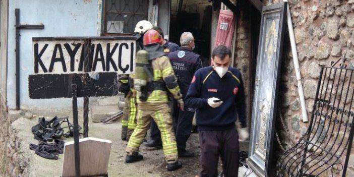 Bursa'da kaynak dükkanında patlama