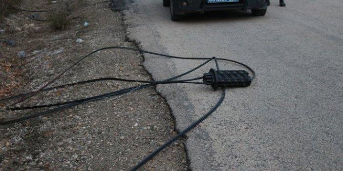 Tokat'ta kablo hırsızları 6 köyü internetsiz bıraktı