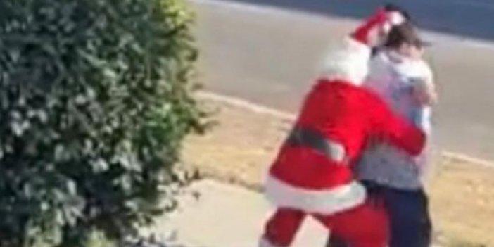 Noel Baba ve Elf hırsız avında, kameralara böyle yansıdı