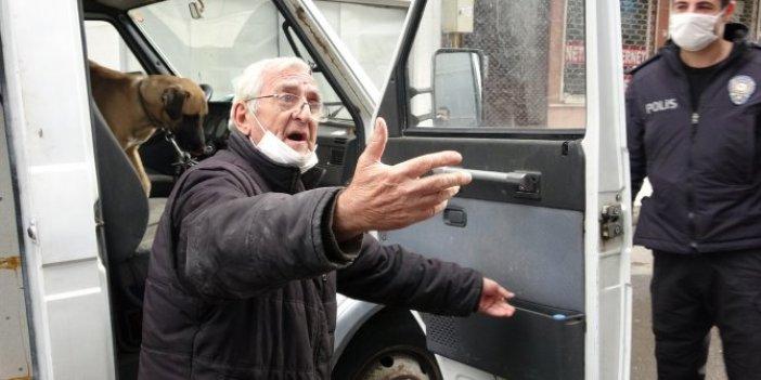 Köpeğini saatlerce araçta bırakan adam gazetecileri tehdit etti