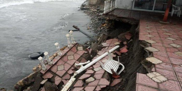 Batı Karadeniz'de fırtına işletmelere zarar verdi