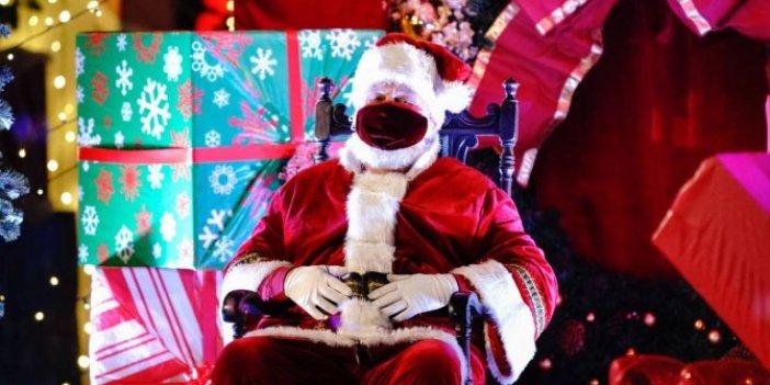 Belçika'da Noel Baba'dan yılbaşında korona hediyesi