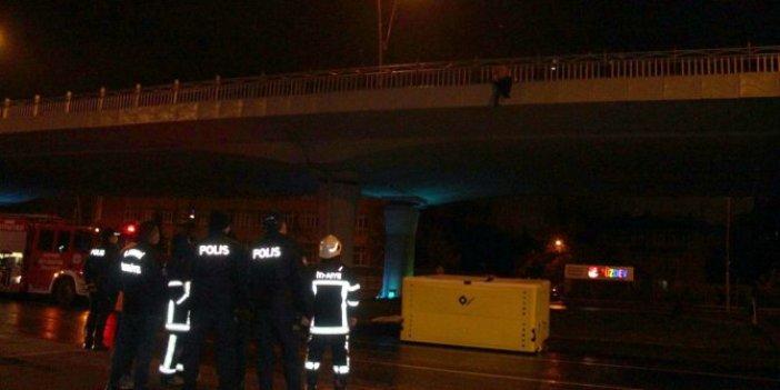 Viyadükte can pazarı. Polis 1,5 saat dil döktü