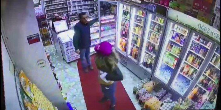 Önce büfe sahibini sonra kendini soydu, güvenlik kameraları anbean kaydetti