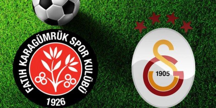 Fatih Karagümrük- Galatasaray maçı nefesleri kesti. Galibiyeti getiren gol 90+11'de geldi