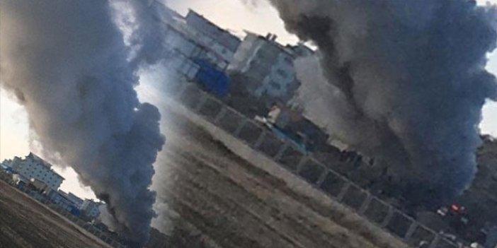 Burdur'da Cezaevi inşaatında işçilerin kaldığı konteynerde korkutan yangın