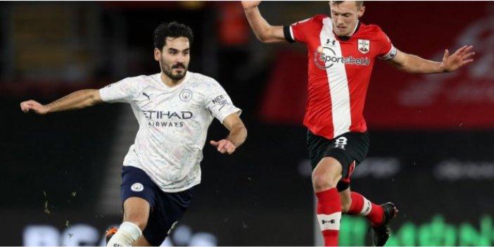 Manchester City zorlu maçta Southampton'ı geçmeyi bildi