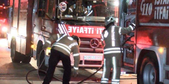Kartal'da iş yerinde yangın. Bir kişi dumandan etkilendi