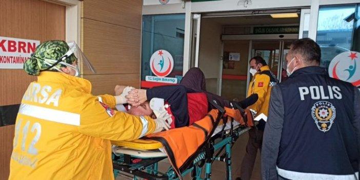 Bursa'da feci kaza. Forkliftin çarptığı işçi ağır yaralandı
