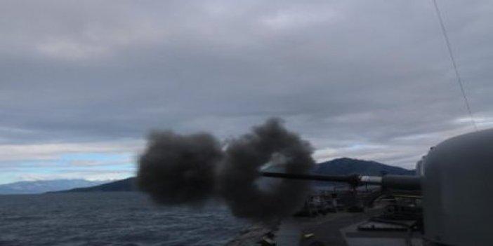 Doğu Akdeniz'de 'Fiili Silah Atış Eğitimleri' icra edildi