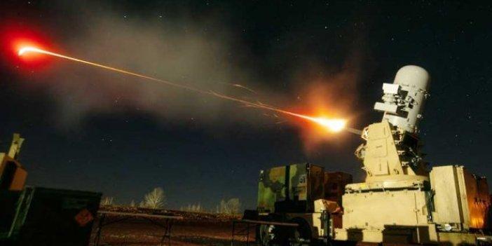 ABD'nin C-RAM hava savunma sistemi roketleri böyle imha etti