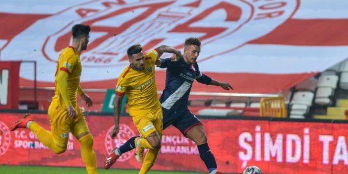 Antalyaspor'dan Kayserispor'a karşı kritik galibiyet