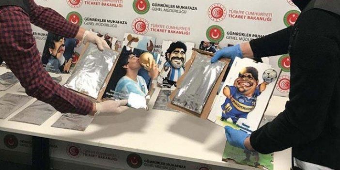 İstanbul Havalinanı'nda büyük operasyon. Maradona tablolarının arkasından kokain çıktı