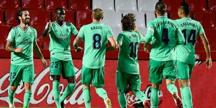 Real Madrid galibiyet serisine Granada önünde devam etti