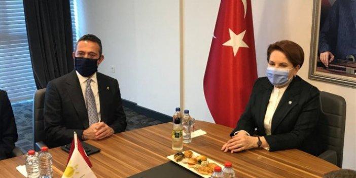 Fenerbahçe Kulübü Başkanı Ali Koç'tan İYİ Parti lideri Meral Akşener'e ziyaret