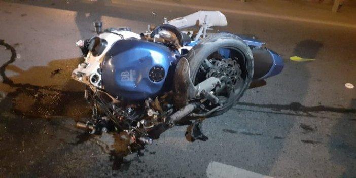 İstanbul'da feci kaza! Hurdaya dönen motosiklette iki kardeş ağır yaralandı
