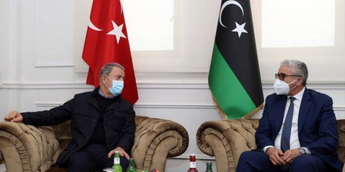 Hulusi Akar Libya İçişleri Bakanı Başağa ile görüştü