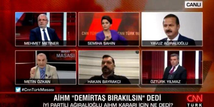 Hakan Bayrakçı Metin Özkan'a sinirlenip CNN Türk canlı yayınını terk etti. Stüdyo buz kesti canlı yayın karıştı
