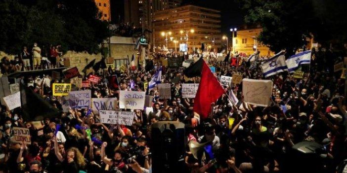 İsrail'de Netanyahu protestosu: 3 gözaltı