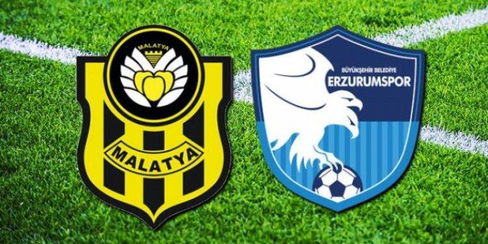 Yeni Malatyaspor Erzurumspor maçı canlı anlatım
