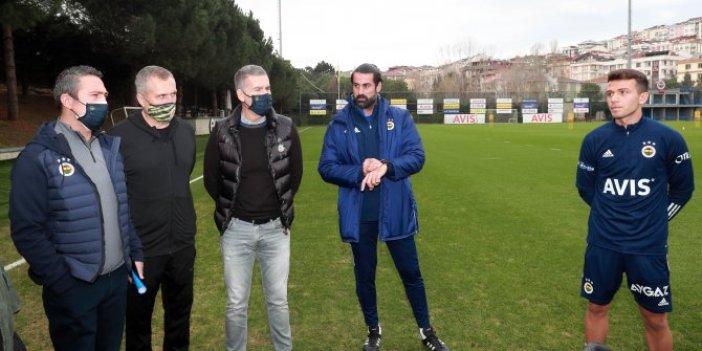 Fenerbahçe Başkanı Ali Koç antrenmanı takip etti