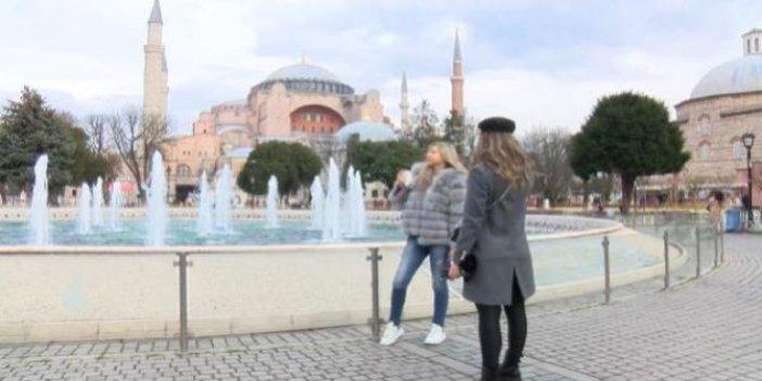 Sokağa çıkma yasağında Sultanahmet turistlere kaldı