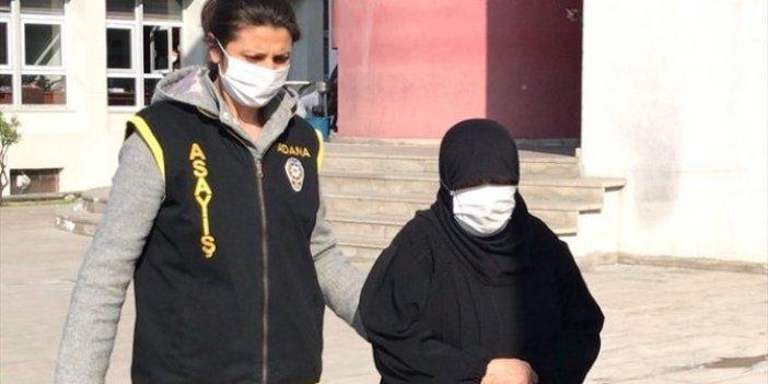 Adana'da suçüstü yakalanan 70 yaşındaki yankesicilik şüphelisi kadın tutuklandı