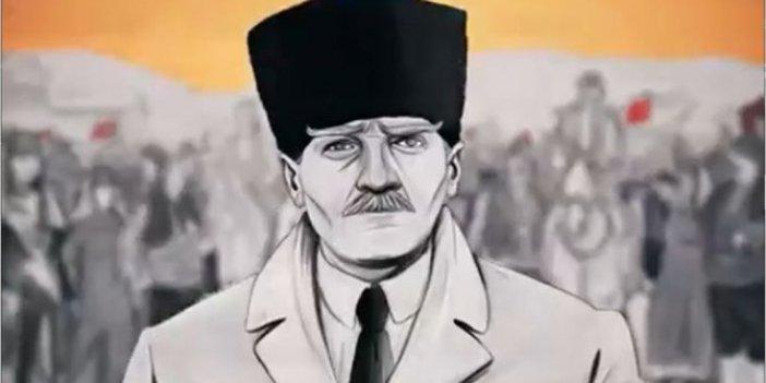 Ankara Büyükşehir Belediyesi'nden Atatürk'ün Ankara'ya gelişi ile ilgili çok konuşulacak video