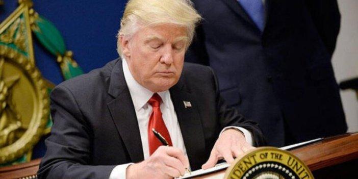 Trump korona virüs destek paketini imzaladı