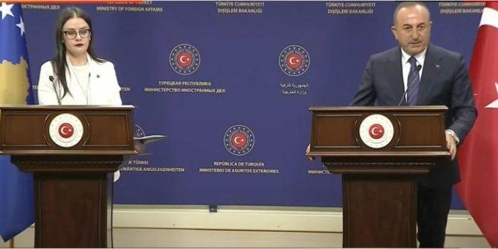 Bakan Çavuşoğlu, Meliza Haradinaj-Stublla ile basın açıklaması düzenledi