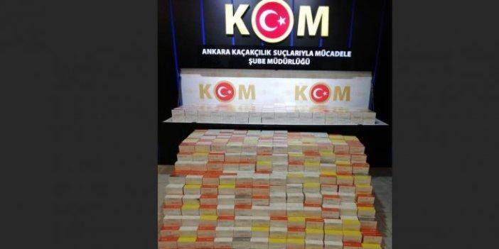 Ankara'da kaçak elektronik sigara tütünü operasyonu. Polisler say say bitiremedi