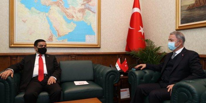Milli Savunma Bakanı Hulusi Akar, Iraklı mevkidaşı Jumaah Enad Saadoonn ile görüştü