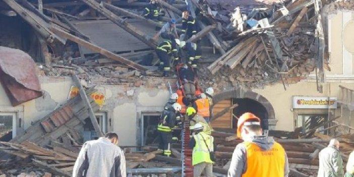 Hırvatistan'daki depremden son görüntüler. Tek katlı evler yerle bir oldu