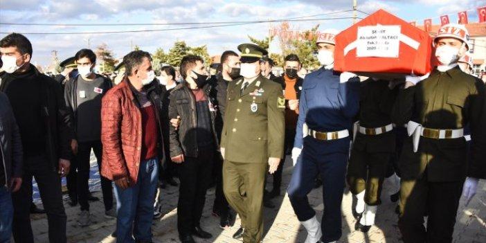 Şehit Sözleşmeli Er Abdullah Paltacı memleketi Konya'da son yolculuğuna uğurlandı