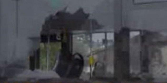 İETT otobüsüne taşlı saldırı