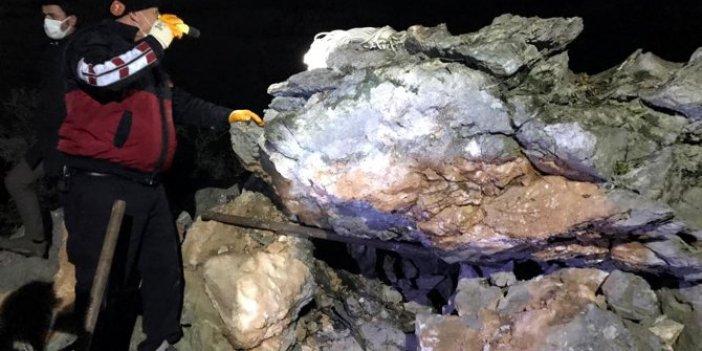 Cansız bedeni tonlarca ağırlığındaki kayanın altında bulundu