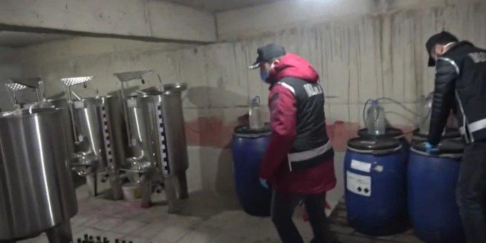 Türkiye'de yılbaşı üzeri sahte içki zirve yaptı. Onlar üretiyor, polis basıyor