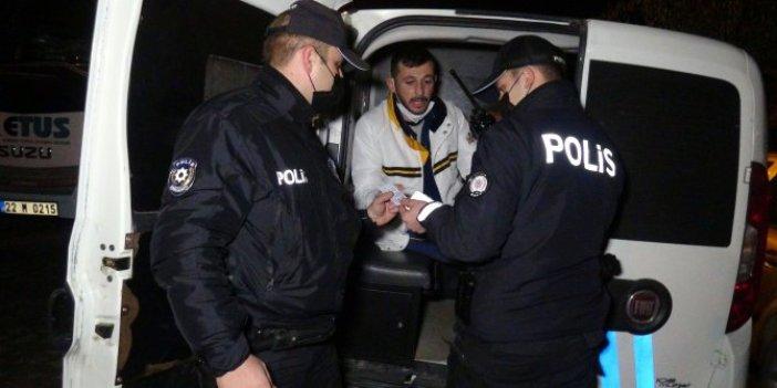 Edirne'de alkollü sürücü polisleri çıldırttı. Bu ne ilk ne son