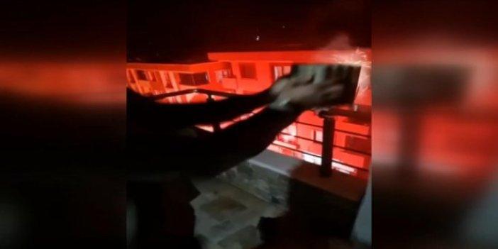 Sancaktepe'de havai fişek eğlencesi faciaya dönüşüyordu. Başlarına geleceklerden habersiz ateşlediler