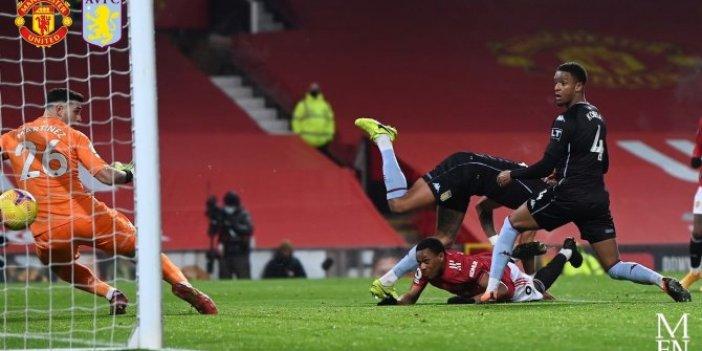 Manchester United Aston Villa karşısında gümbür gümbür