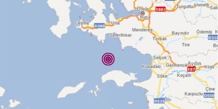 İzmir 4 büyüklüğündeki depremle sallandı