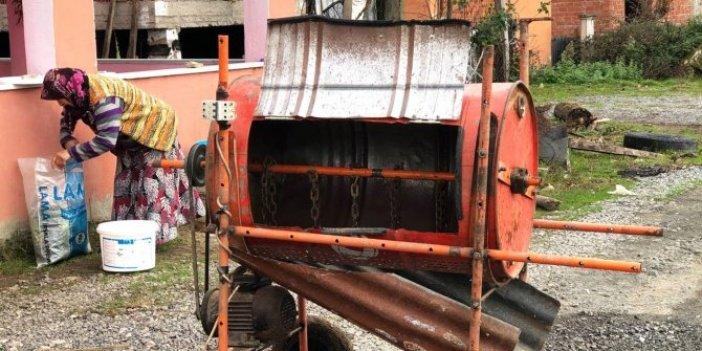 Sakaryalı çiftçi Kadir'in büyük başarısı. Hurda malzemelerden makine üretti