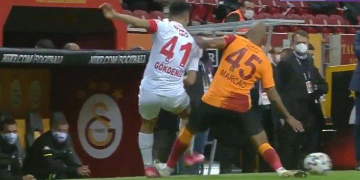 Galatasaray Antalyaspor maçında da hakem rezilliği devam etti. Sosyal medya bu pozisyon için birbirine girdi
