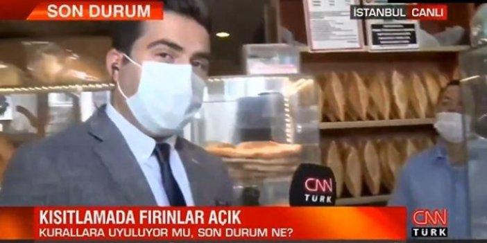 CNN Türk muhabiri fırıncının cevabını duyunca canlı yayını anında bitirdi. Kan ter içinde kaldı