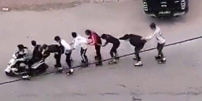 Patenci gençlerin tehlike yolculuğu kameralara yansıdı