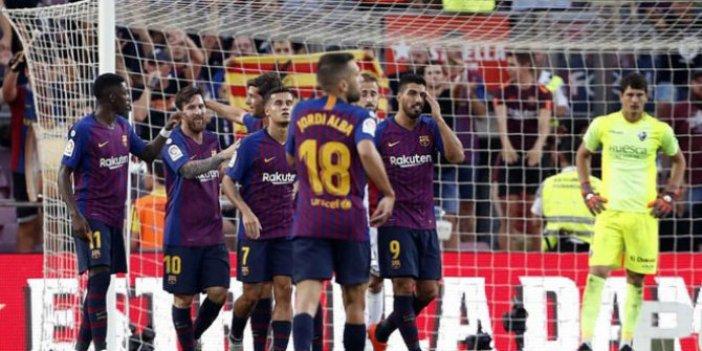 Barcelona ile Huesca karşılaşması tek gollü bitti