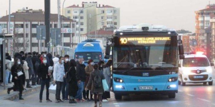 Toplu taşımada sosyal mesafe denetimi