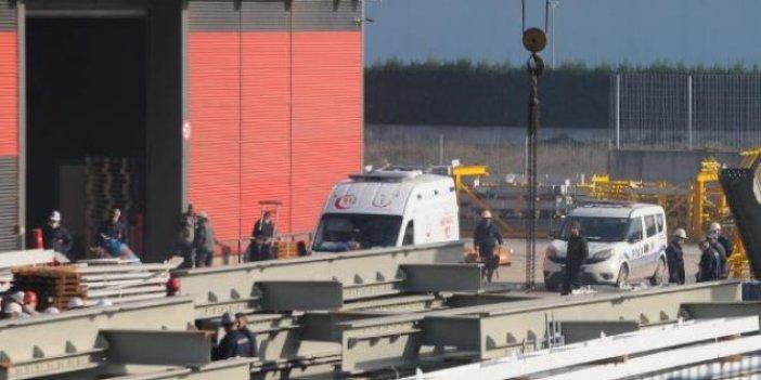 Kocaeli'deki fabrikada mazot tankı yandı