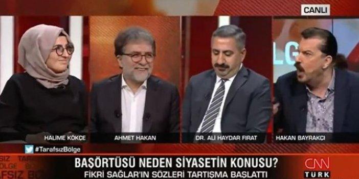 Hakan Bayrakçı CNN Türk canlı yayınında sinirlerine hakim olamadı. Soruya bu sözlerle cevap verdi