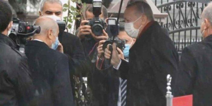 Cumhurbaşkanı Erdoğan'dan, Bahçeli'ye evinde ziyaret